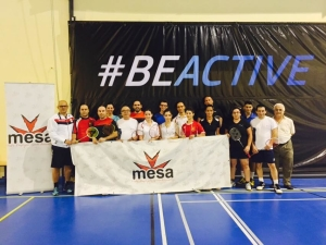 All participants at the Badminton MESA Tournament as part of the #BeActive Week