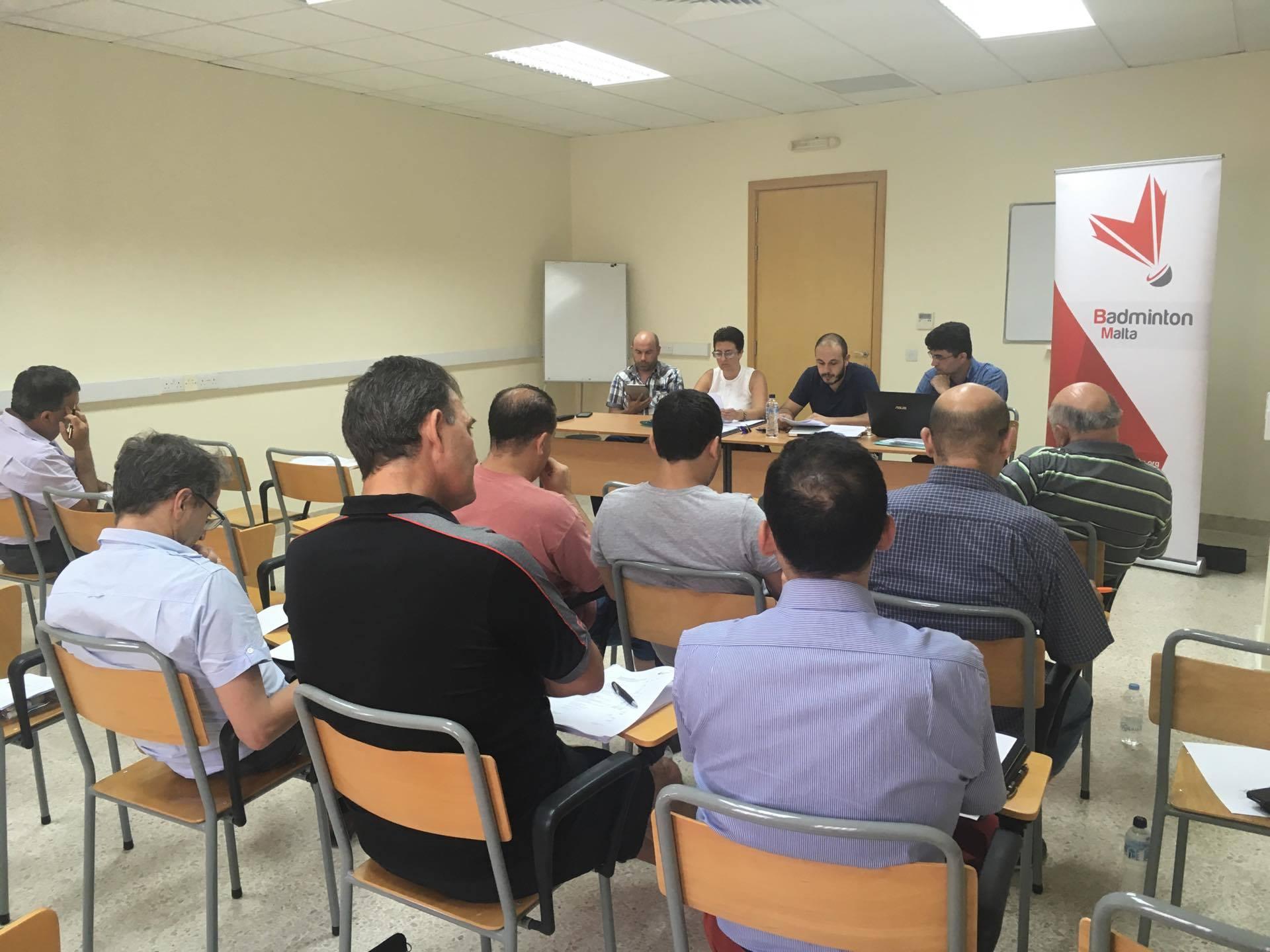 Badminton Malta Executive Committee Confirmed