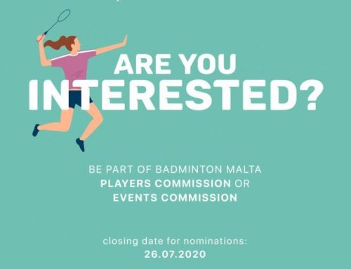 Contribute to Badminton Malta's growth! Apply now