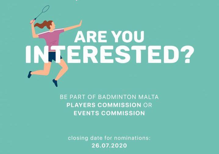 Contribute to Badminton Malta's growth! Apply now